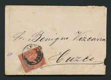 More details for 1883 peru cover chile occupation 10c provisional stamp tied arequipa to cuzco