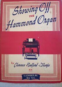 SHOWING OFF THE HAMMOND ORGAN BOOK 1949