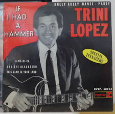"""TRINI LOPEZ IF I HAD A HAMMER  45t 7"""" FRENCH EP REPRISE 1963"""