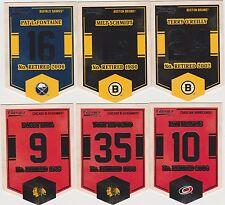 2012-13 Panini Classics Signatures Banner Numbers #EN16 Milt Schmidt Bruins