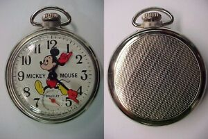 Vintage Bradley Mickey Mouse Pocket Watch Excellent Condition