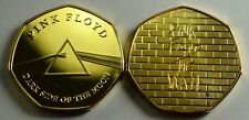 PINK FLOYD DARK SIDE OF THE  MOON & THE WALL 24ct Gold Collectors Album/Tokens
