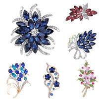 Fashion Women Crystal Flower Wedding Bridal Bouquet Brooch Pin Costume Jewelry