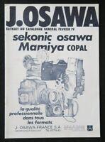 Catalogue appareil photo 1979 OSAWA MAMIYA 465 catalog Katalog