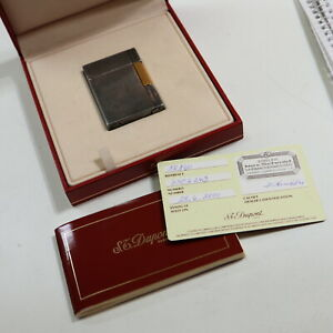S.T.Dupont Feuerzeug Silber, Box, Papiere