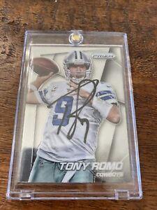 Tony Romo Signed Prizm Football Card Psa Dna Coa Autographed Cowboys