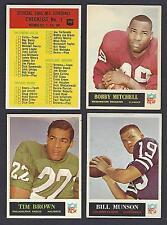 1965 Philadelphia Football Lot Finish Your Set Pick 10 EX-MT