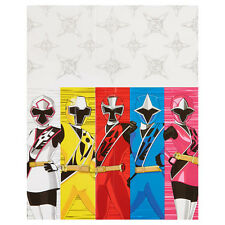 POWER RANGERS Ninja Steel PLASTIC TABLE COVER ~ Birthday Party Supplies Cloth