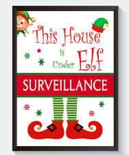 Elf Surveillance Print Fun Christmas Gift Decoration For On The Shelf