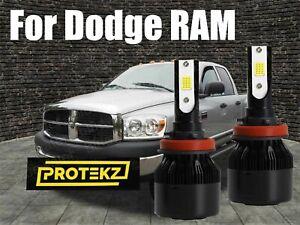 LED for Dodge/ RAM 2009-2012 Headlight Kit H11 6000K White CREE Bulbs Low Beam