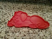 Chilton 1979 Old MacDonald's Farm Red Plastic DOG Cookie Cutter