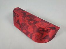 ELLE Eye Glasses Case Pouch Eye Glasses Cover Travel Hard Red Hot Designer