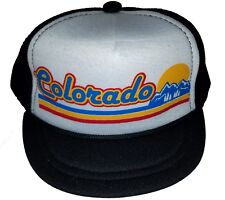 Colorado Striped Baby Newborn Infant Mesh Trucker Hat Cap Snapback BW