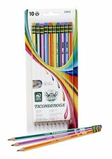 Ticonderoga Striped Pencils 10 Count Sharpened Back to School Supplies Fast Ship