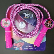 Trolls World Tour Deluxe Jump Rope 7ft DreamWorks Pink NEW