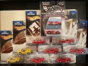 Hotwheels Auto Milestones F40 & 330 P4 & Lamborghini Lot 9 Cars Mint