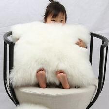 "1pcs Faux sheepskin Fur Square White Pillowcase Cushion 26""x26"" & fabric back"