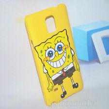 Yellow Spongebob Cartoon Plastic Hard Back Case Cover For Samsung Galaxy Note 4