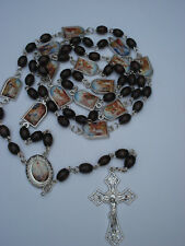 """Stations of the Cross rosary rosaries made of wood from Medjugorje 26,8"""""""