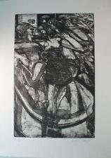 Heinz Stangl erotische Radierung 47/100 handsigniert G-1428