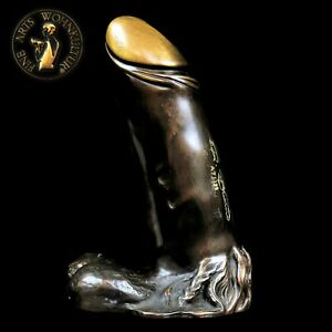 FINE ARTS Wohnkultur Bronze Sculpture Figurine Phallus Statue Akt Erotic Men Boy