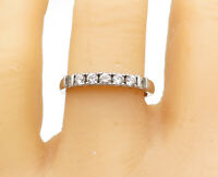 925 Sterling Silver - Petite Round Cut Topaz 5 Stone Band Ring Sz 8.5 - R15632