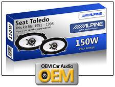 Seat Toledo Front Door speakers Alpine car speaker kit 150W Max power 4x6