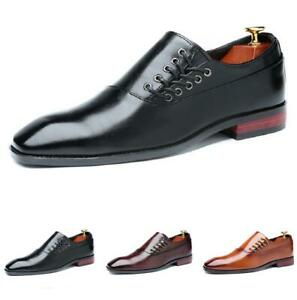38-47 Mens Dress Formal Business Shoes Pointy Toe Work Office Slip on Party New