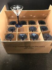 CASE OF 12 FINLANDIA COBALT COCKTAIL 5 OUNCE GOBLETS   6 1/2'' TALL