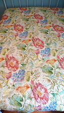 Scent-Sations Inc. QUILT COVERLET 90x92 NEW WITH TAG Pastel Watercolor