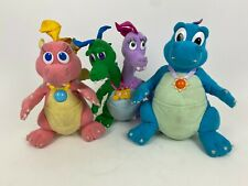 Vintage 1999 Playskool Plush Lot Dragon Tales Cassie, Ord, Zak & Wheezy Tested