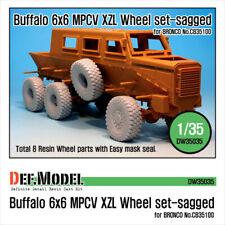 DEF. MODEL, Buffalo 6x6 MPCV Mich. XZL Sagged Wheel set (Bronco 1/35), DW35035