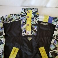 Spyder Snowboard Ski Jacket Junior Size 10 Black Purple Blue Pullover Hood