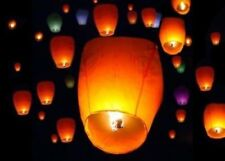 50Pcs Mix Paper Chinese Lanterns Sky Fly Candle Lamp for Wish Party Wedding