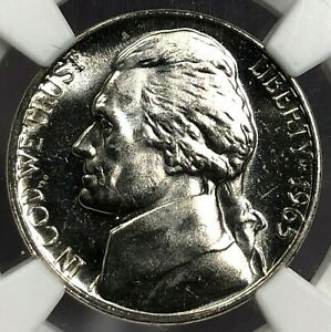 1965 SMS PCGS MS65 CAMEO Jefferson Nickel 5c ~ Popping Cameo & Frosty Details