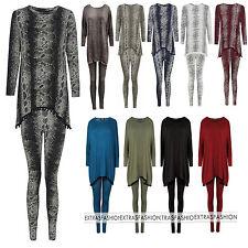 Womens Ladies Snake Skin & Pom Pom Print Loungewear Set Joggers Tracksuit Pants