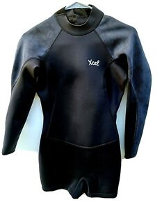 Xcel Wetsuit Women's US Size 8 Long Sleeve Spring Suit Black 2/2 mm Back Zip
