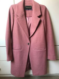 Forever New Pink Wool Blend Coat Size 6-As New