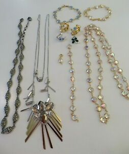 Lot ALL SIGNED SWAN SWAROVSKI CRYSTAL JEWELRY ~ Necklaces, Pins, Earrings