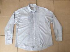 MICHAEL KORS    Pleaded Front  Stripe Cotton Shirt      Size XL