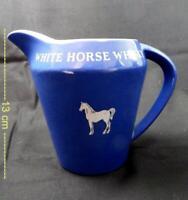 Vintage Wade White Horse whisky blue jug