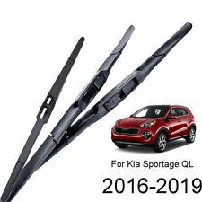 For Kia Sportage QL SUV 2016-2019 2018 Front Rear Windscreen Wiper Blades Set