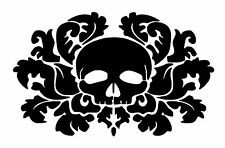 High Detail Damask Skull Airbrush Stencil - Free UK Postage