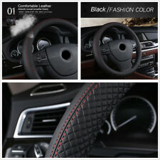 38cm PU Leather Breathable Car Steering Wheel Cover Interior Styling Accessories