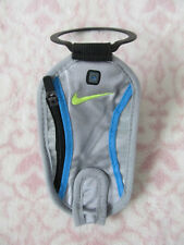 Nike Hand Held Water Bottle Wallet / Pouch Color Wolf Grey/Blue Glow/Volt