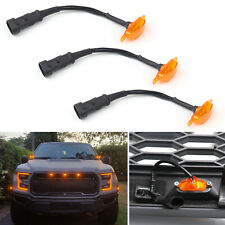 3X LED Light For FIT Ford F-150 F150 Raptor Style Grille Grill 2015-2019 16 TZ1