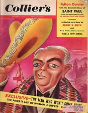 1953 Colliers August 7-Covarrubias;Sherlock Holmes;Pearl Buck;Pedal Cars;Sinatra