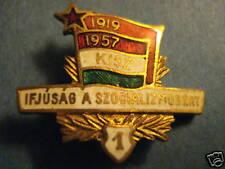 Hungary Hungarian Badge Socialist KISZ 1957 Class 1 Communist Union Youth Badge