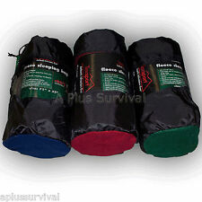 "Lot of 4 - Fleece Sleeping Bag - 50 Degree - Emergency Survival Kit - 32"" x 75"""