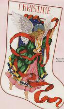 "Barbara Baatz Hillman ""Celestial Angel"" Stocking Counted Cross Stitch Pattern"
